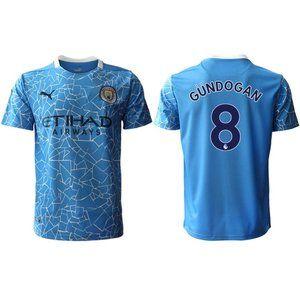 Manchester City Ilkay Gundogan Blue 20-21 Jersey